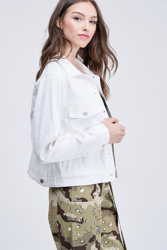 JOURNEY OUT DENIM WHITE JACKET
