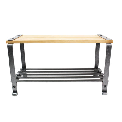 Craftsman Multi-purpose Bench w/ Solid Alder Top Hammered Steel - Enclume Design Products