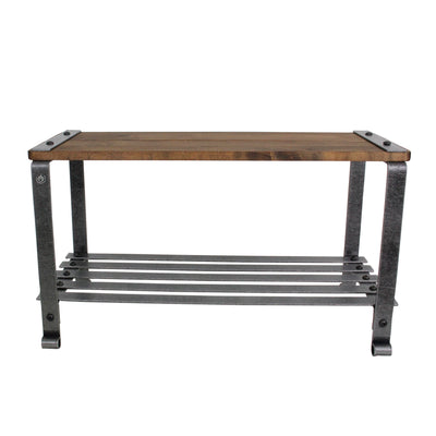 Craftsman Multi-purpose Bench w/ Solid Wood Top & Hammered Steel