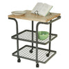 Rectangle Baker's Cart Hammered Steel w/ Eastern Maple Butcher Block - Enclume Design Products