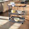 Baker's Cart Base Hammered Steel w/ Eastern Maple Butcher Block - Enclume Design Products