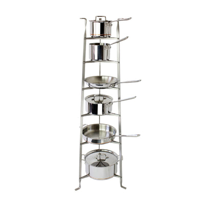 6-Tier Gourmet Cookware Stand (Assembled or Unassembled)
