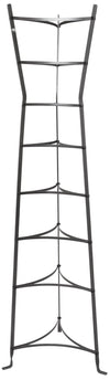 8-Tier Gourmet Hourglass Cookware Stand Hammered Steel