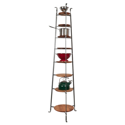 8-Tier Gourmet Cookware Stand w/ Alder Shelves - Enclume Design Products
