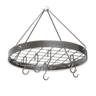 Cottage Round Rack w/ 6 Hooks Hammered Steel - Enclume Design Products