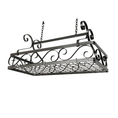 Decor Basket Rack - Large Hammered Steel - Enclume Design Products