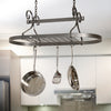 Scrolled Oval Pot Rack Hammered Steel - Enclume Design Products