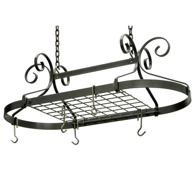 Scrolled Oval Rack Hammered Steel (Unassembled) - Enclume Design Products