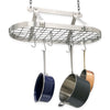 "Gourmet Classic Oval Ceiling Pot Rack w/ 12 Hooks, 2 S Hooks and 6"" Chain - Enclume Design Products"
