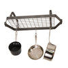 Low-Ceiling Retro Rectangle Pot Rack w/ 12 Hooks - Enclume Design Products