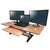 DTD Height Adjustable Standing Desk Converter Large Beech