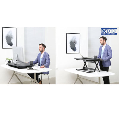 DTD Height Adjustable Standing Desk Converter Medium Steel