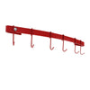 Designer Curved Wall Rack Utensil Bar w Hooks - Accent Colors - Enclume Design Products