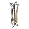 Rolled Eye 4-Piece Fireplace Tool Set Hammered Steel - Enclume Design Products