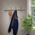 Coat Rack w/ 4 Double Hooks Hammered Steel