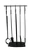 Habitat 4 Pc Twist Top Fireplace Tool Set Black