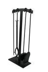 Habitat 4 Pc Arch Top Fireplace Tool Set Black - Enclume Design Products