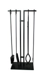 Habitat 4 Pc Fireplace Tool Set Black