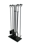 Habitat 4 Pc Fireplace Tool Set Black - Enclume Design Products