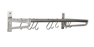 Habitat Stainless Steel Bookshelf Wall Rack - Enclume Design Products