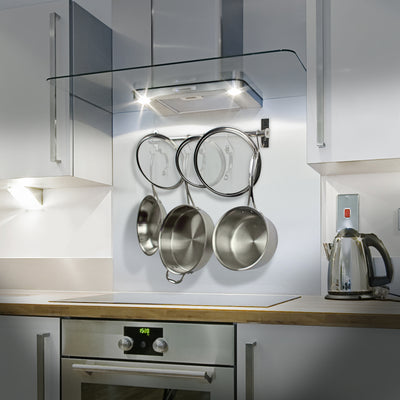 Habitat Stainless Steel Wall Rack Utensil Bar w/ 10 S Hooks - Enclume Design Products