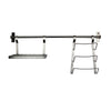 "Habitat Stainless Steel 32"" Wall Rack Utensil Bar with Lid & Spice Holder"