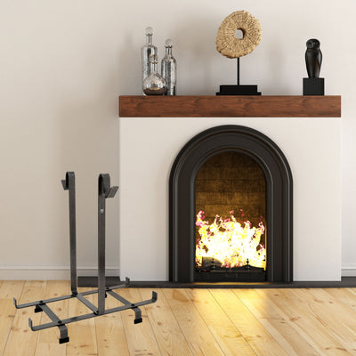 Fireplace Log Rack Only Hammered Steel (for Carrier Bag)