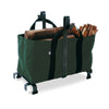 Fireplace Log Rack w/ Carrier Bag Hammered Steel - Enclume Design Products