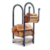 Fire Center Log Rack Hammered Steel