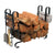 Large Modern Fireplace Log Rack w/ Tools Hammered Steel