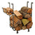 Rectangle Fireplace Log Rack Hammered Steel