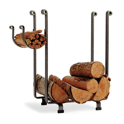Rectangle Fireplace Log Rack Hammered Steel - Enclume Design Products