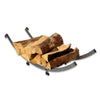 Arch Basket Fireplace Log Rack Hammered Steel