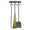 Fireplace Tools Set for Sling Log Rack w/ Bar Hammered Steel