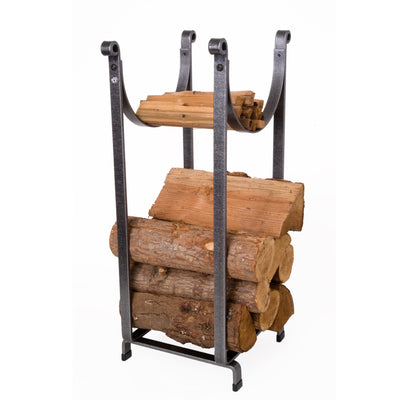 Sling Fireplace Log Rack Hammered Steel - Enclume Design Products