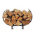 Indoor/Outdoor Small U Shaped Fireplace Log Rack