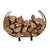 Indoor/Outdoor Large U Shaped Fireplace Log Rack
