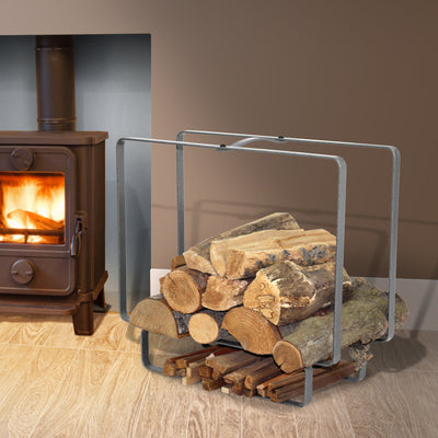 Indoor/Outdoor Medium Rectangular Fireplace Log Rack