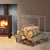 Indoor/Outdoor Small Rectangular Fireplace Log Rack