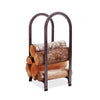 Vertical Arch Fireplace Log Rack Hammered Steel - Enclume Design Products