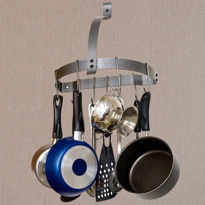 Rack It Up Half Moon Wall Rack w/ 8 Hooks - Enclume Design Products