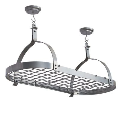 Rack It Up Oval Ceiling Rack w/ 12 Hooks Silver