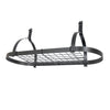 Rack It Up Oval Ceiling Rack w/ 12 Hooks Steel Gray Hammertone - Enclume Design Products