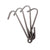 Rack it Up Pot Hooks 8 Pack Steel Gray Hammertone