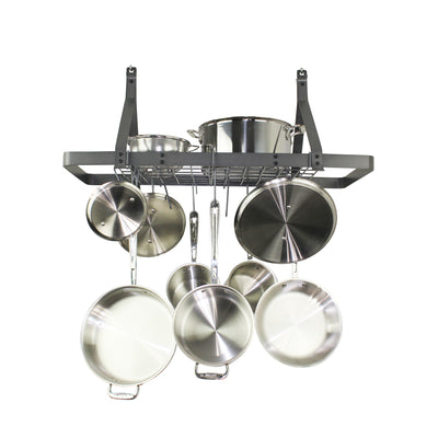 Rack It Up Rectangle Ceiling Rack w/12 Hooks - Enclume Design Products