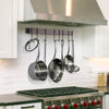 Rack It Up Wall Rack Utensil Bar w/ Hooks - Easy Mount - Enclume Design Products