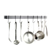 Rack It Up Wall Rack Utensil Bar w/ Hooks - Easy Mount