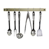 Classic Easy Mount Wall Rack Utensil Bar w Hooks - Accent Colors