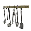 "Enclume® 24"" & 30"" Easy Mount Wall Rack w/ 6 Hooks Brass PC"