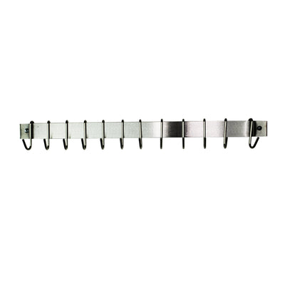 Classic Easy Mount Wall Rack Utensil Bar Utensil Bar w Hooks - Enclume Design Products